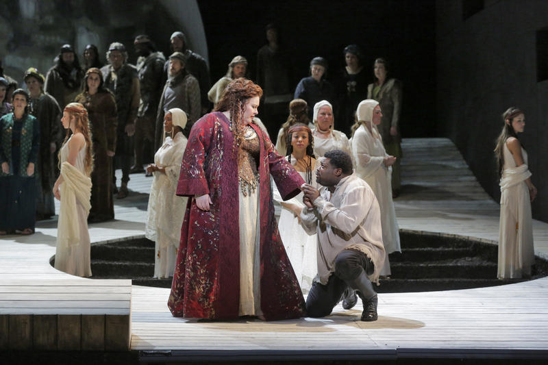 Angela Meade and Russell Thomas in Norma