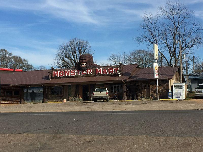 Photograph of Monster Mart in Fouke, Arkansas.