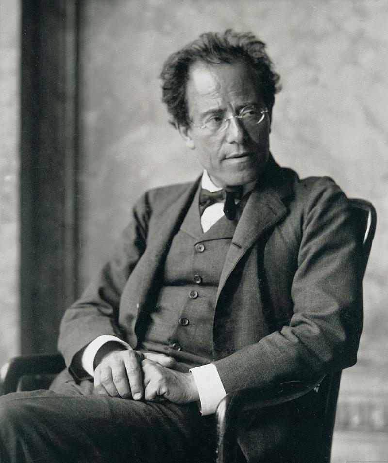 Photograph of Gustav Mahler in the Foyer of the Hofoper, Vienna.