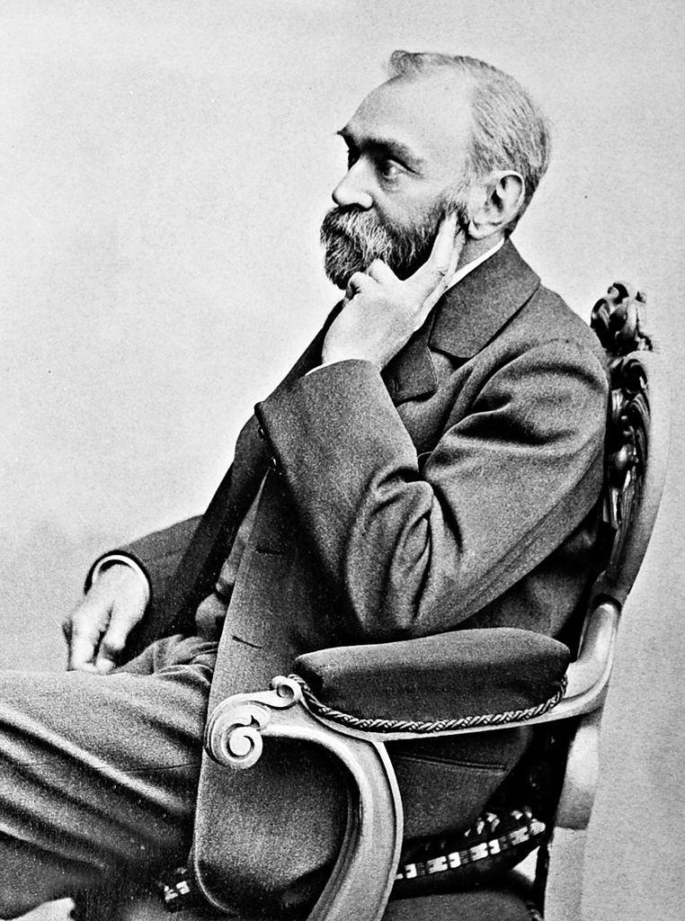 Portrait of Alfred Nobel (1833–1896) by Gösta Florman (1831–1900)