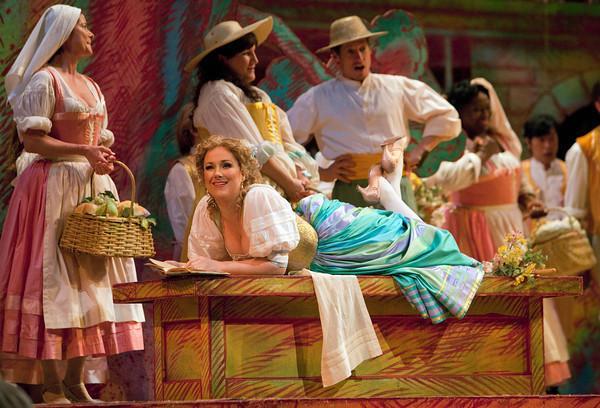 "Diana Damrau as Adina in Donizetti's ""L'Elisir d'Amore."""