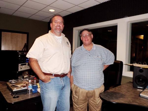Ornithologist Cliff Shackelford, from the Texas Parks and Wildlife Department with Bill Beckett, Program Director for Red River Radio and host of Bird Calls.