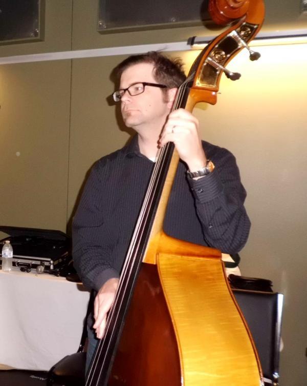 Joel Boultinghouse (Bass) in the RRR studios