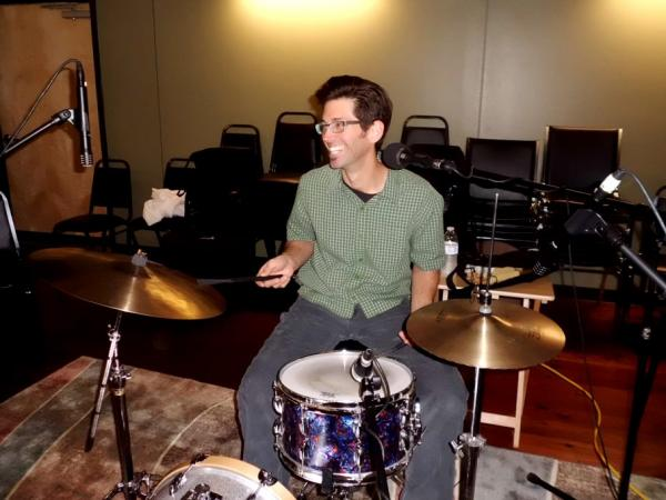 Troy Messina (Drums) in the RRR Studios