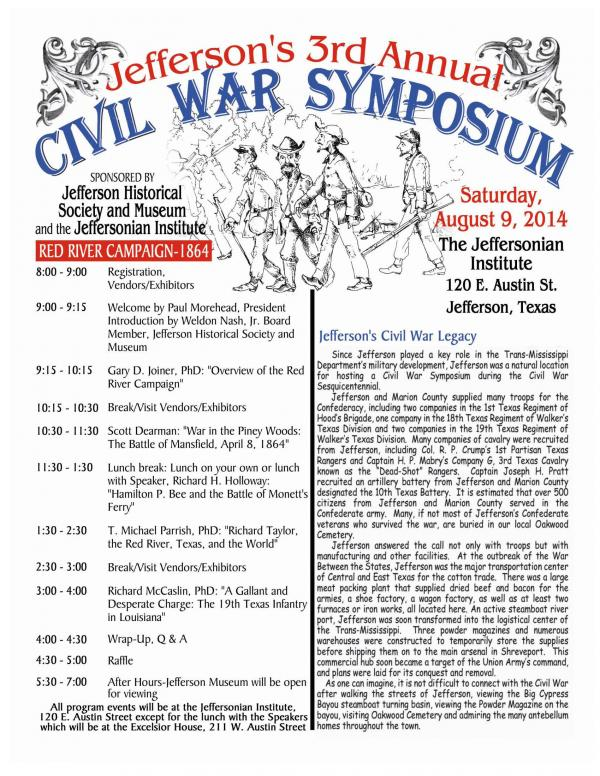 Civil War Symposium Flyer