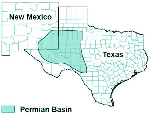 Map Of West Texas And New Mexico.West Texas Permian Basin Tularosa Basin 2017