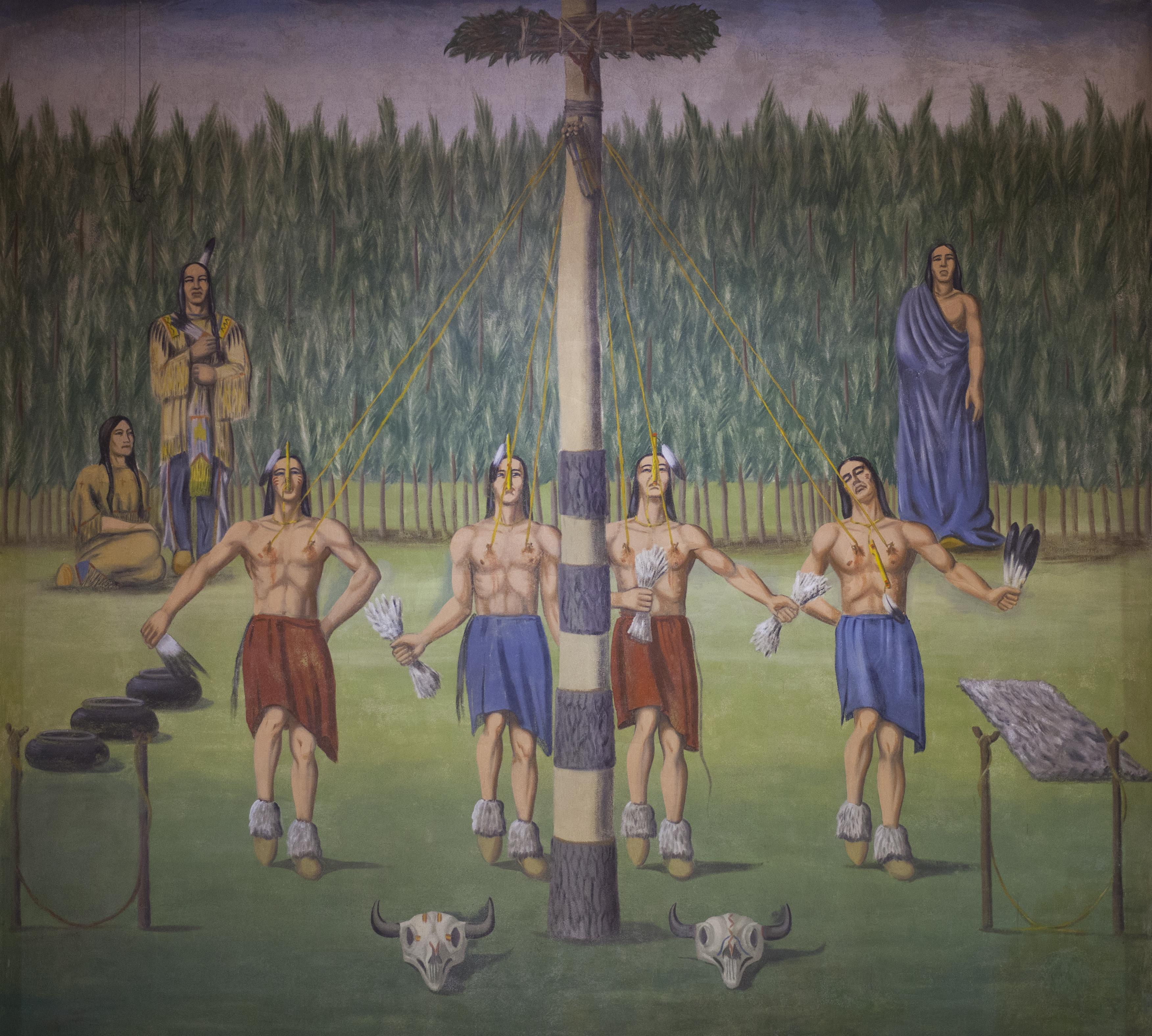 Mobridges Oscar Howe Murals Restored also 2916226 also  on oscar howe victory dance
