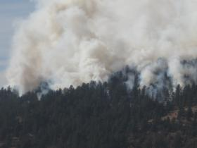 Climate Change is seen as a factor leading to the increased size and intensity of wildfires in the nation's forests.