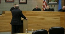 Attorney Steve Miller speaks to justices of South Dakota's Supreme Court, Spring 2013