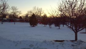 Brookings, SD looks like winter on the first day of spring