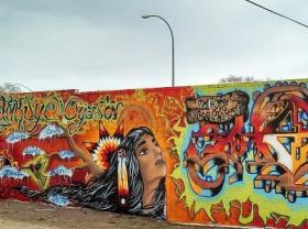 "The Pine Ridge Reservation's ""Hope"" Mural - by Focus and AMP"