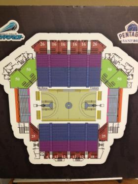 Diagram of the Sanford Pentagon Arena