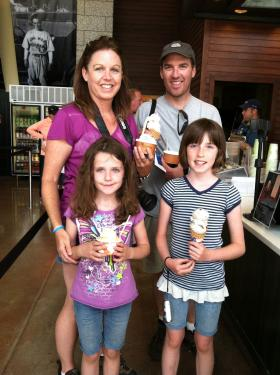The Bierschbach family from Washington state loved TJ's Ice Cream