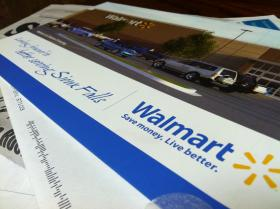 People in Sioux Falls received mailers detailing community benefits of a proposed Walmart at 85th St. & Minnesota Ave.