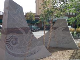 The Passage of Wind and Water sculpture project at Rapid City's Main Street Square