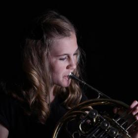 Madison Wallace played French horn with the South Dakota  Symphony Youth Orchestra