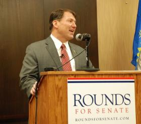 Former South Dakota Governor Mike Rounds received several jabs during the Republican primary debate on Thursday.