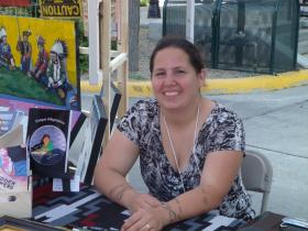 Valerie Janis was one of the emerging artists at Main Street Square's Native American art market and cultural celebration.