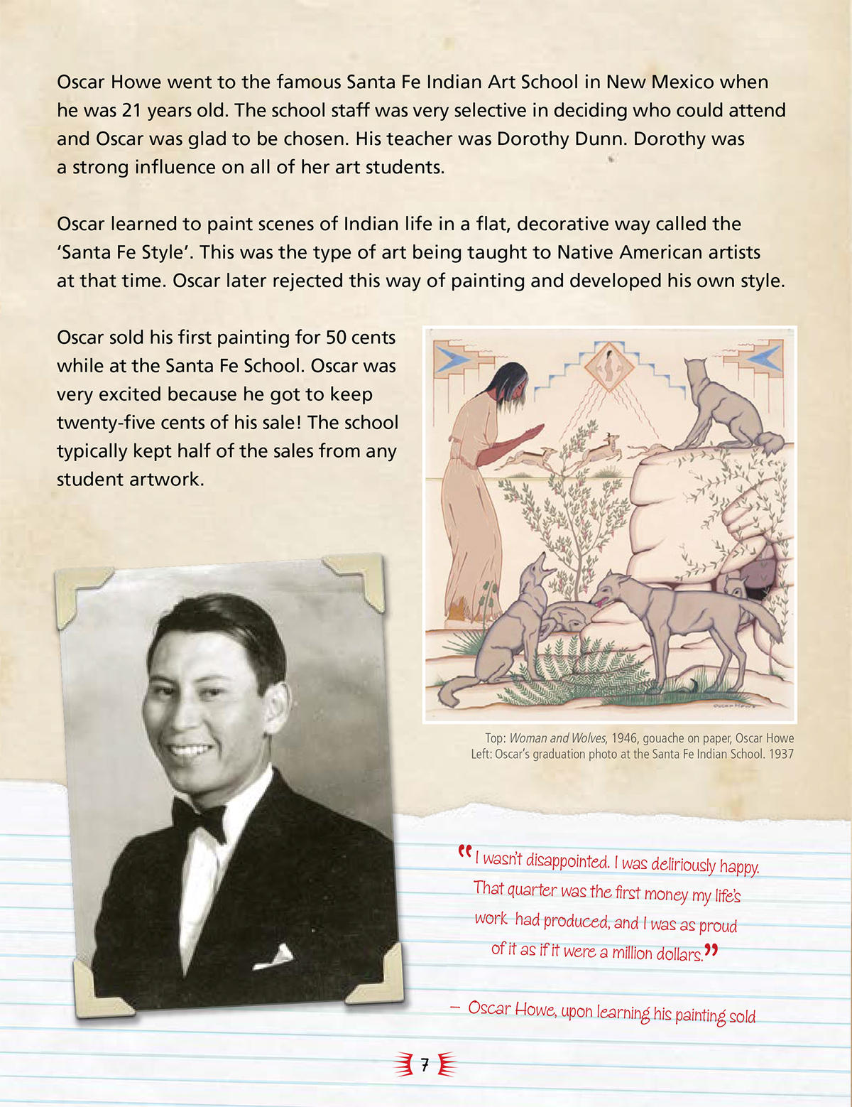 "A sample page from ""Native American Master Artist: Oscar Howe"""