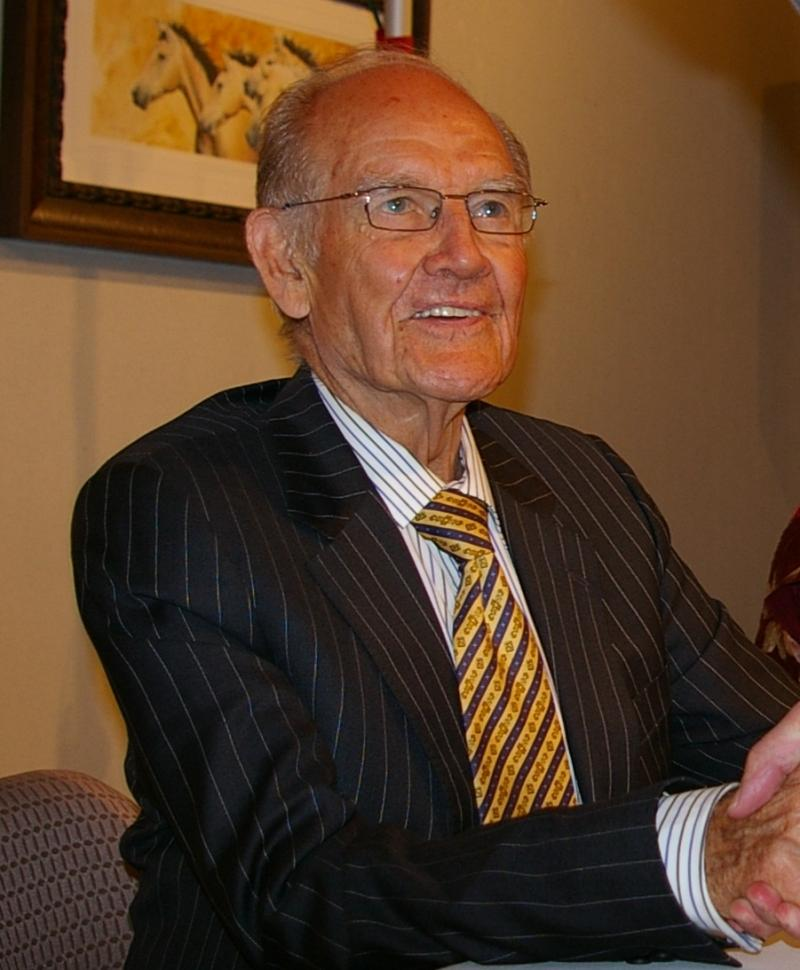 Senator George McGovern in 2007 at an event in Rapid City.