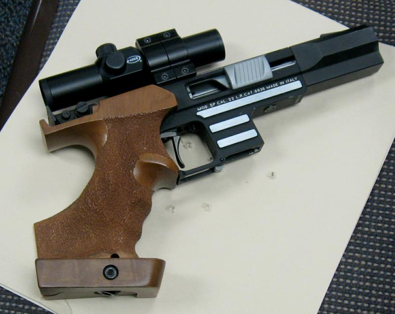This is an Italian pistol, a Pardini 22  Model SP