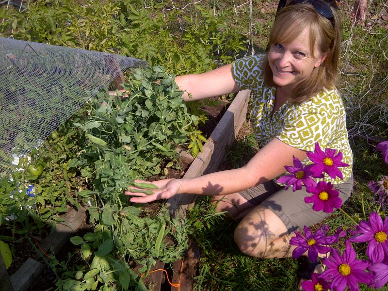 Darla Boehm-Auld at Lead's Mile High Community Garden