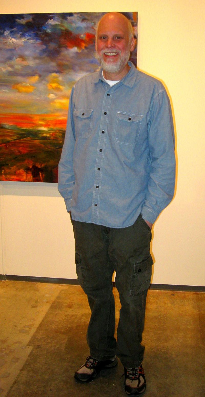 Paul Peterson in the Dahl Arts Center gallery