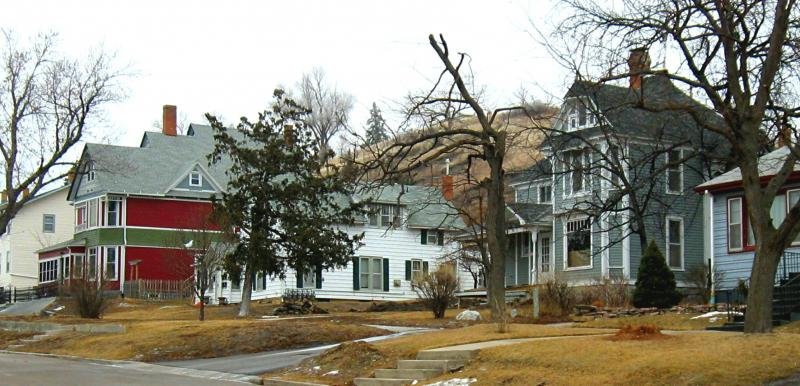 These houses sit immediately to the east of the McGillycuddy House.