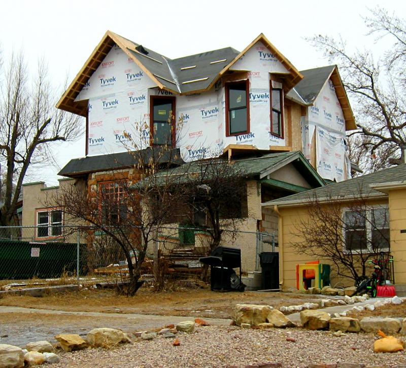 The McGillycuddy House, as it looks today. It sits near the corner of Mount Rushmore Road and South Street.
