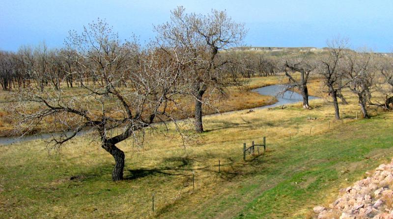 The Cheyenne River runs near Red Shirt.