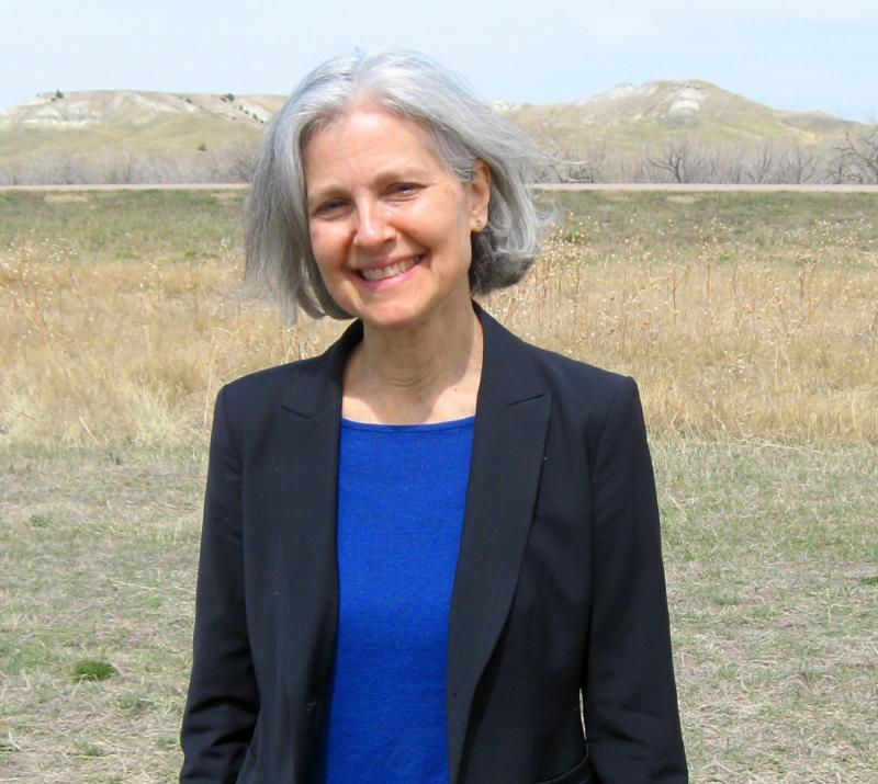 Jill Stein, physician-turned-activist, traveled to Red Shirt to help promote the Clean Up the Mines movement.