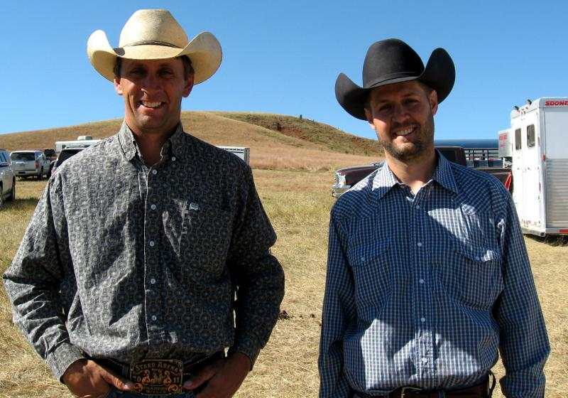 Ross and Scott Varilek ride horses to herd cattle on their Angus ranch near Geddes, so although chasing bison had its challenges, it wasn't an entirely foreign experience.