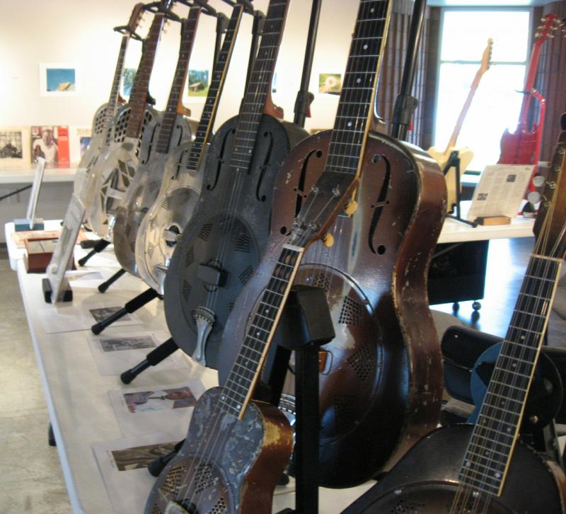 Mark Falk's guitars.
