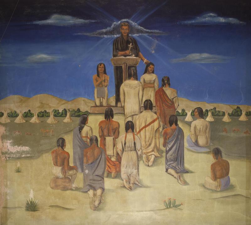 Oscar Howe's Catholic Services mural