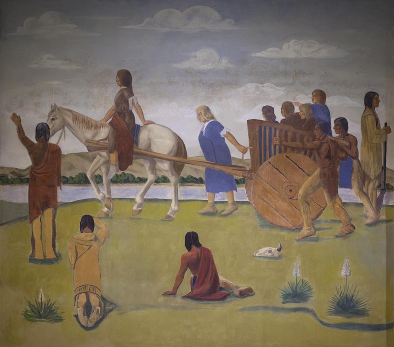 Oscar Howe's Fool Soldier mural