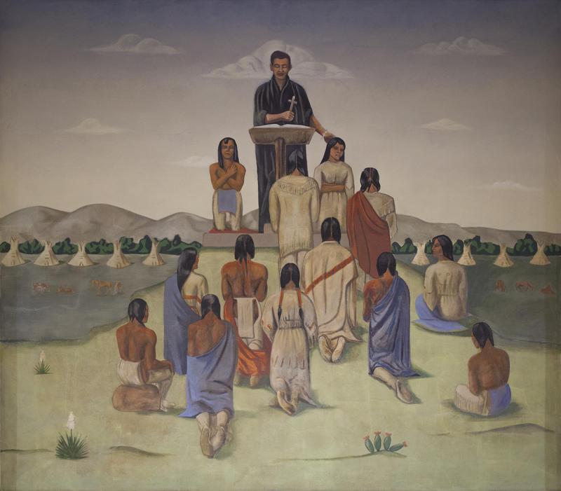 Oscar Howe's Christian Services mural