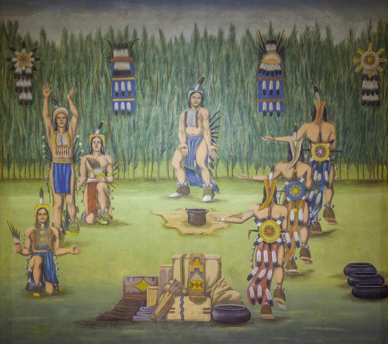 Oscar Howe's Victory Dance mural