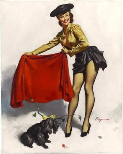 """Aw, Come On"" by Gil Elvgren"