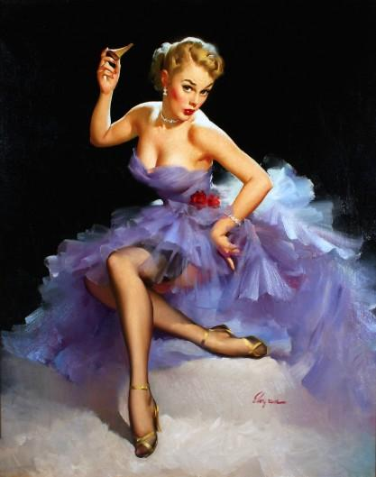 """Out of the Running"" by Gil Elvgren"