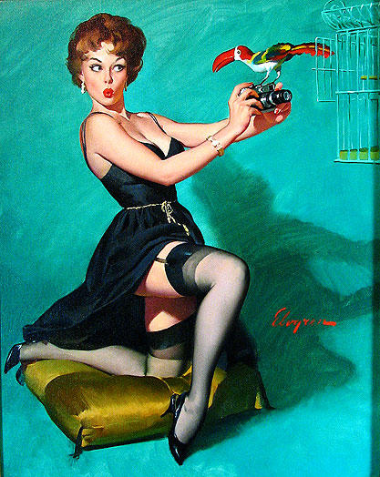 """Ruffled Feathers"" by Gil Elvgren"