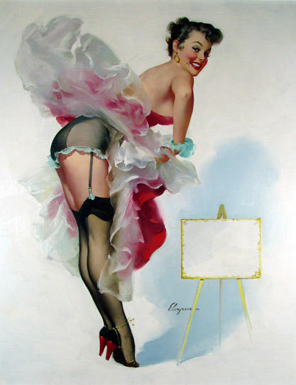 """A Frame Worth Picturing"" by Gil Elvgren"