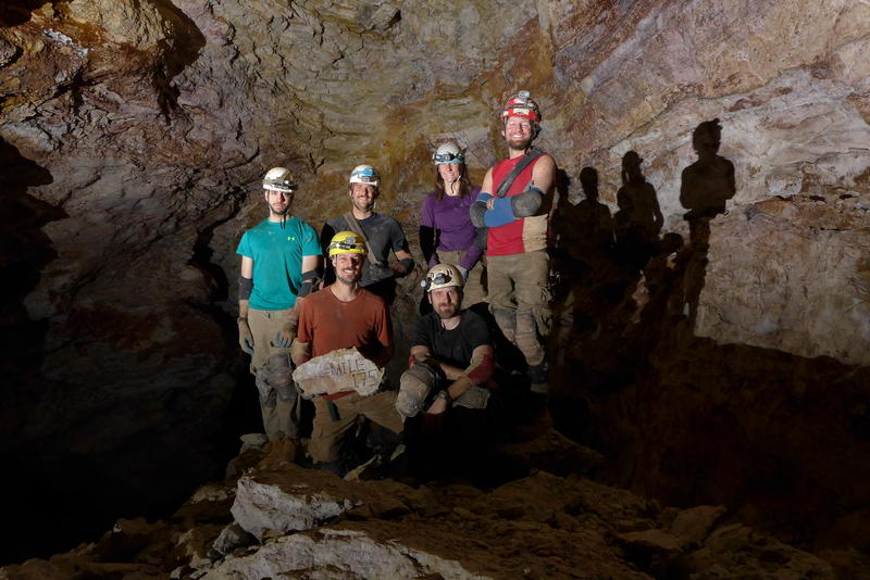 Cavers at the 175th Mile.  Blase Lasala, Ian McMillan, Carl Bern, Dan Austin, Rene Ohms, and Chris Pelczarski.