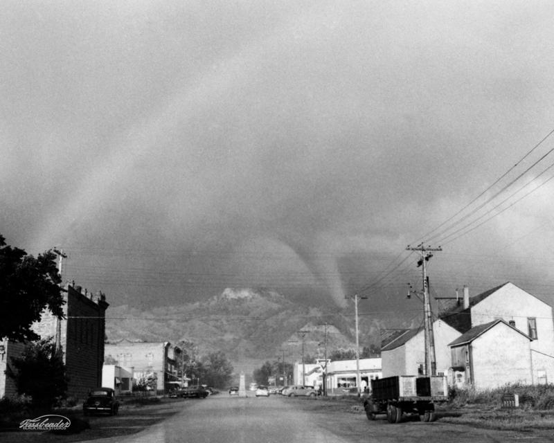 Tornado over Lookout Mountain in Spearfish