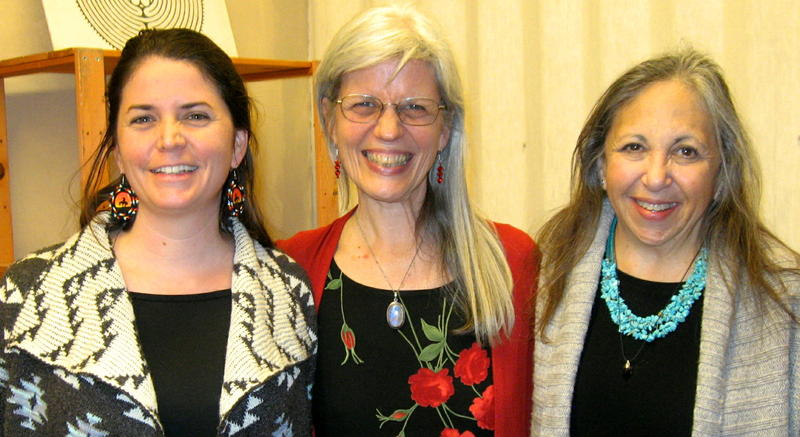 From left, Ana Sanz, Mary Ellen Uptain, and Susan Stark Christianson