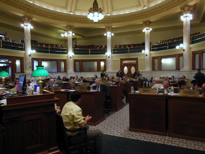 The Senate Chamber at the State Capital buidling in Pierre, SD