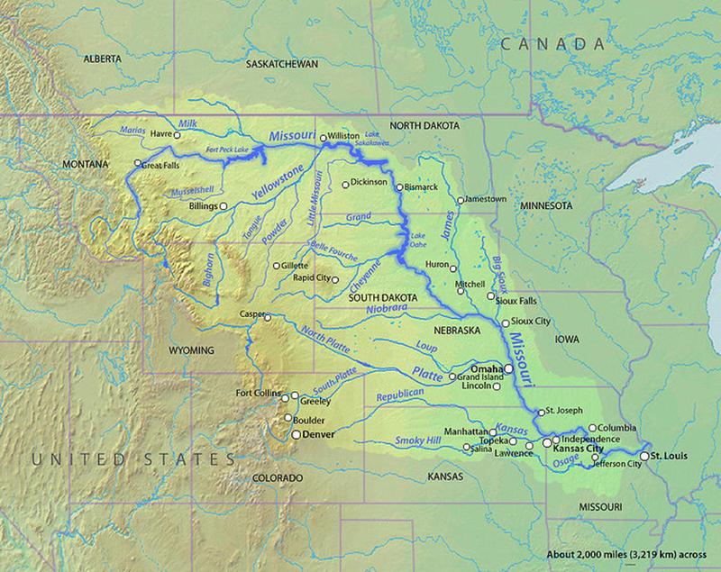 Snowmelt Begins In Upper Missouri River Basin SDPB Radio - Mississippi missouri river world map