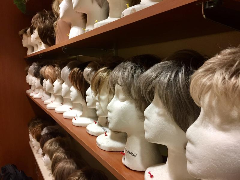 Wigs on the shelf at Avera
