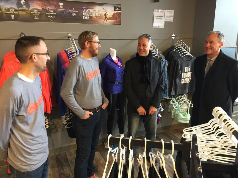 605 Running Company leaders talk with DTSF's Joe Batcheller and SD Governor Dennis Daugaard.