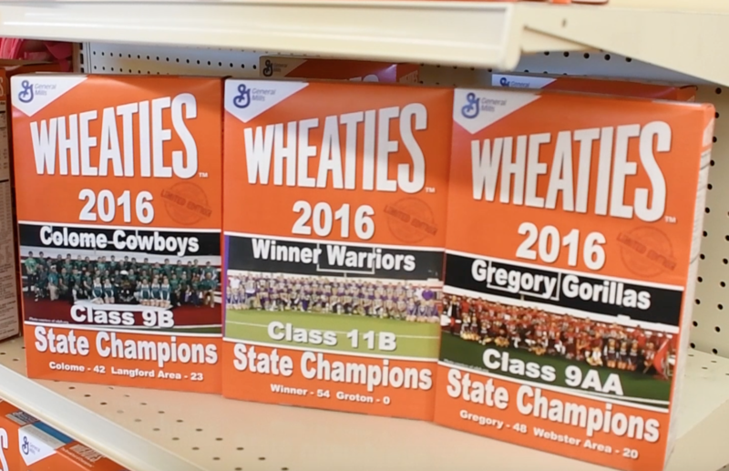 Wheaties Boxes featuring Colome, Winner, and Gregory
