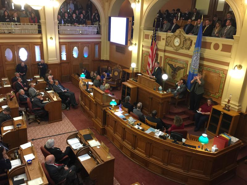 Governor Dennis Daugaard delivers the 2017 State of the State address.